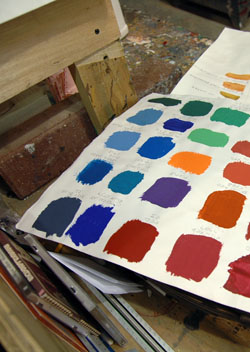 Lehigh University Theatre - Paint Color Swatches