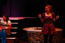 Lehigh University Theatre - Twelfth Night, woman singing
