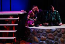 Lehigh University Theatre - Twelfth Night, three people in well