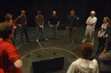Lehigh University Theatre - Tectonic Workshop with Scott Barrow, group together
