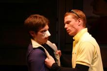 Lehigh University Theatre - The Shape of Things, two men in argument