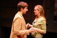 Lehigh University Theatre - The Shape of Things, man and woman holding hands
