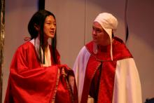 Lehigh University Theatre - Top Girls, two women talking