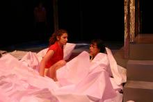 Lehigh University Theatre - Top Girls, two women on ground