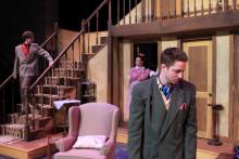Lehigh University Theatre - Noises Off, three people on set
