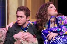 Lehigh University Theatre - Noises Off, woman with arm around man