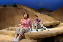 Lehigh University Theatre - Seascape, woman and man sitting