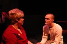 Lehigh University Theatre - Frozen, woman and man talking