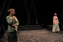 Lehigh University Theatre - Five Flights, woman looking over