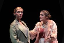 Lehigh University Theatre - Five Flights, woman talking