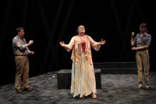Lehigh University Theatre - Five Flights, woman with arms out
