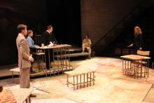 Lehigh University Theatre - The Last Days of Judas Iscariot, people looking at each other across tables