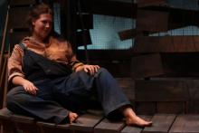 Lehigh University Theatre - A Moon for the Misbegotten, woman in overalls