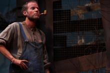 Lehigh University Theatre - A Moon for the Misbegotten, man with pipe and in overalls