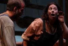 Lehigh University Theatre - A Moon for the Misbegotten, man and woman singing