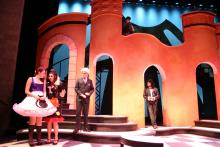 Lehigh University Theatre - The Country Wife, five people on set