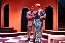 Lehigh University Theatre - The Country Wife, two people talking