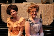 Lehigh University Theatre - The Little Foxes, two women smiling
