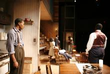Lehigh University Theatre - The Piano Lesson, view from kitchen