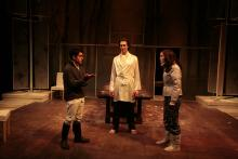 Lehigh University Theatre - Wintertime, three people talking