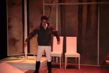 Lehigh University Theatre - Wintertime, man with arms out
